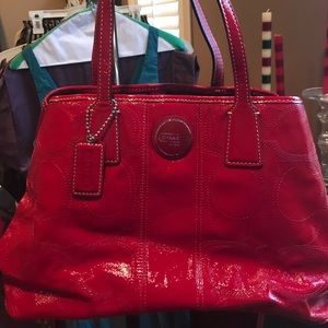 Coach Cherry Red Patent Leather Satchel